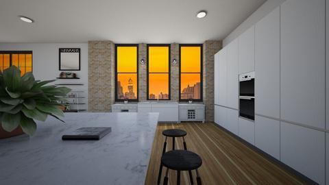 Warm - Modern - Kitchen  - by AngelicT