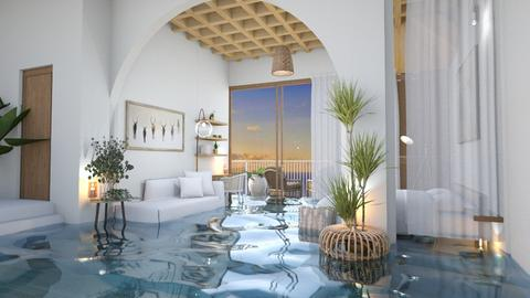 Flooded MYKONOS VIBES - Bedroom  - by itsbinflooded