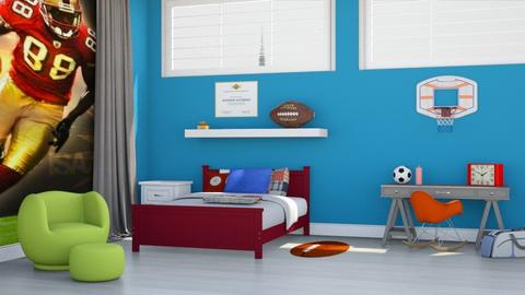 Sports_Bedroom - Kids room  - by designkitty31