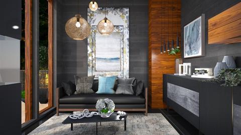 M_Dark tones - Living room  - by milyca8