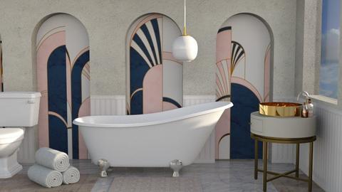 Art Deco Bathroom  - Bathroom  - by rona123