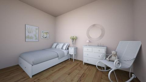 graceful wight bedroom  - Bedroom  - by Adrianna 808