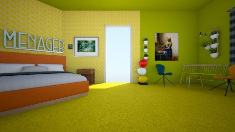 modern and fresh - Modern - Bedroom - by gabrysia347