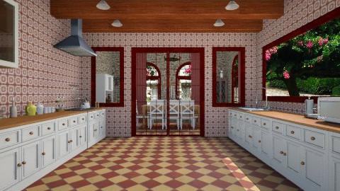 rural kitchenn - Rustic - Kitchen  - by mire roig