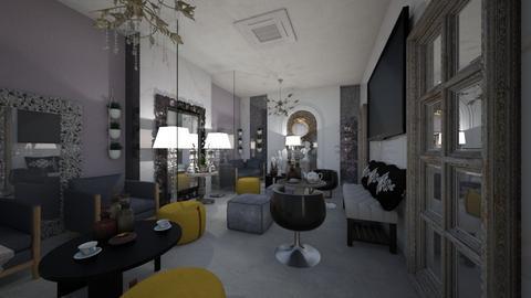 Mirror S _Cafe_Corner - Classic - Living room  - by Nikos Tsokos