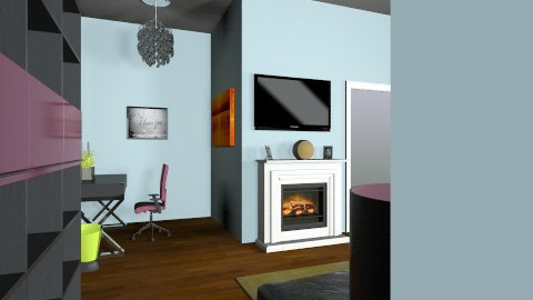 blue and grey - Living room - by meredithb