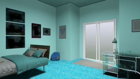 Blue bed room - Bedroom - by car46