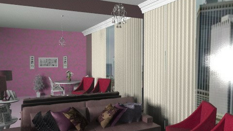Purple/NY decor - Glamour - Living room  - by sahfs