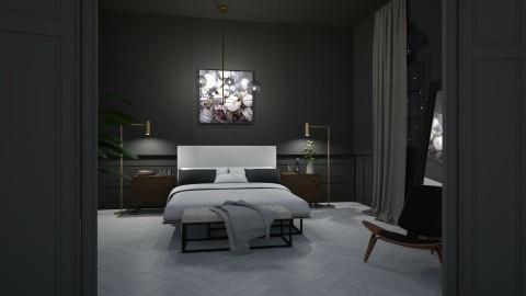 dark bedroom - Modern - Bedroom - by esmeegroothuizen