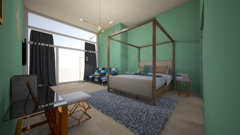 gold office bedroom - Bedroom - by aschaper