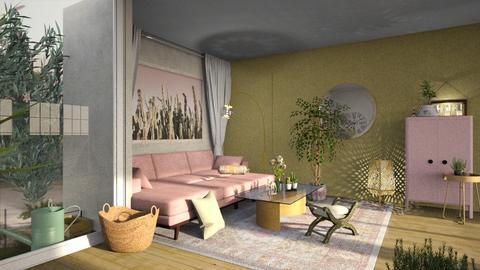 basement - Feminine - Living room - by jjannnii