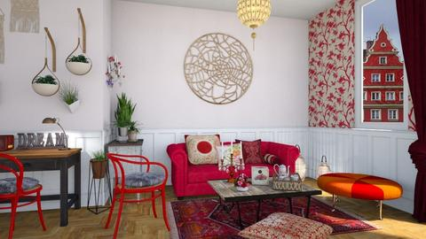 Colored boho - Eclectic - Living room  - by martinabb