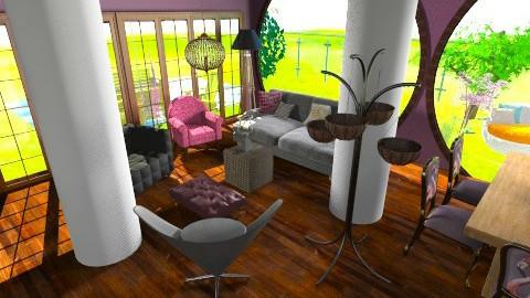 lilac - Living room - by pyksio