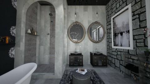 Black Suite Bath - Modern - Bathroom  - by DiamondJ569