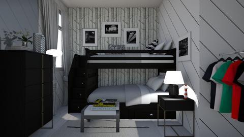 White and Black - Modern - Bedroom - by Irishrose58