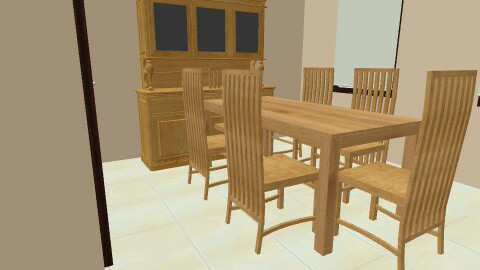 Kitchen and dining room - Minimal - Kitchen - by onlyreni