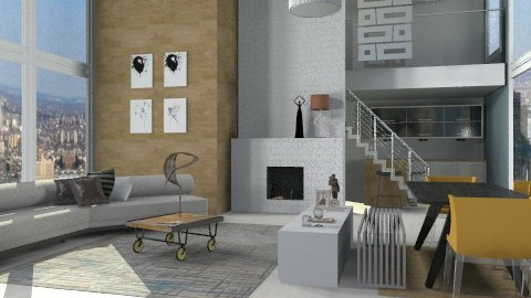 Contemporary Loft Living in-New-York - Eclectic - Living room  - by sahfs