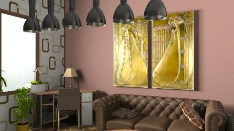 brown room6c - Living room - by cyberneko
