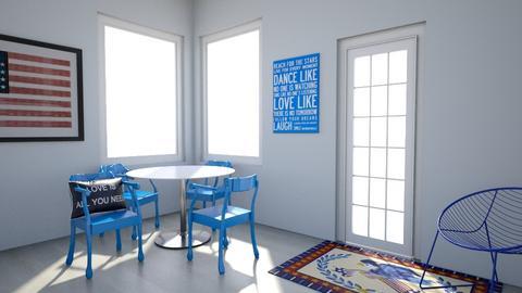 Election Blue Brunch Nook - Minimal - Dining room  - by KajsaRain