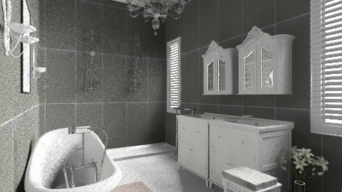 Brocante bathroom - Vintage - Bathroom  - by Little Miss Paris
