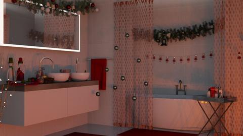 RedBath - Bathroom  - by Ebru Tekneci