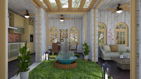 Moroccan Courtyard 1 - Garden  - by Tupiniquim