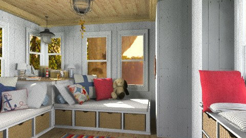 summer cottage - Rustic - Bedroom  - by cellogirl42