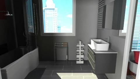 Studio Apartment_bathroom - Eclectic - Bathroom  - by idesine