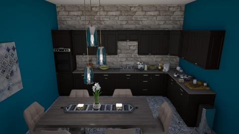 Modern kitchen diner two - Modern - Kitchen  - by Doraisthe_nameofmydoggo12345