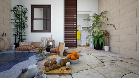 Spanish Pool Yard - Rustic - Garden  - by MiDesign