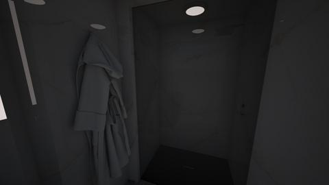Modern Tiny Bathroom - Modern - Bathroom  - by aorucaliyeva