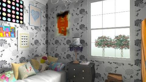 guest bedroom  - Retro - Bedroom  - by cleyenne