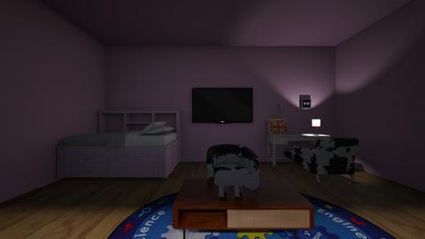 Pink Panda - Modern - Bedroom  - by matildabeast