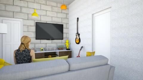 Apartamento pequeno - Vintage - Living room  - by Karynne Martins
