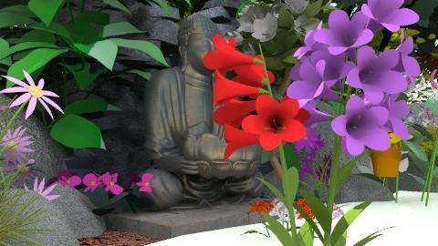 Water Buddha - Classic - Garden  - by catzjasper