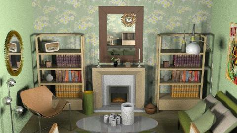 GreenRevival - Retro - Living room - by camilla_saurus