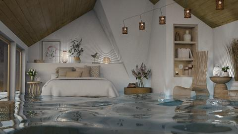 FLOODED Natural Attic - Bedroom  - by itsbinflooded