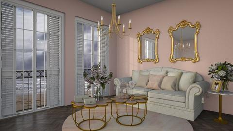 Baby pink - Living room  - by sara1010