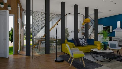 BLUE YELLOW GREEN - Living room - by Miss MH