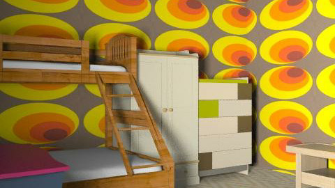 Sam Duckworth - Retro - Bedroom  - by Penny Chalk