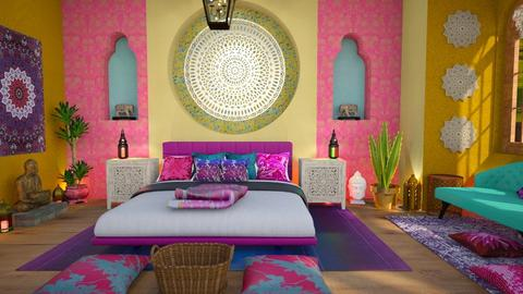 indian colors bedroom - Bedroom  - by Moonpearl