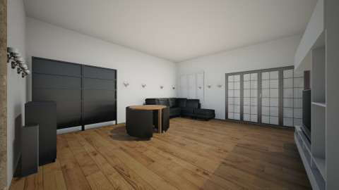 1 room apartment  - Glamour - Living room  - by kimi raval