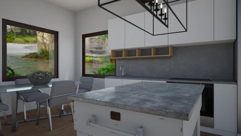 New Modern Kitchen - Modern - Kitchen  - by Rinnah02