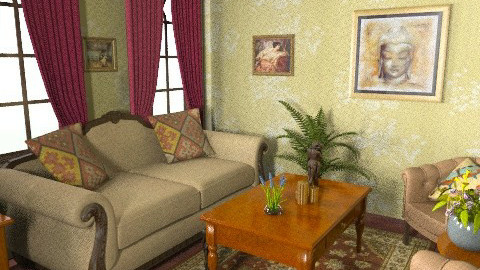 Victorian living room - Retro - Living room  - by sally89