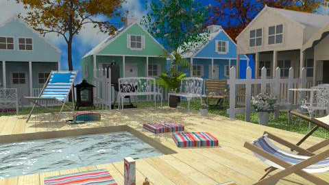 Beach cottages - Country - Garden - by Bibiche
