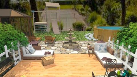 Grandmas Backyard - Country - Garden  - by AshiraLevana