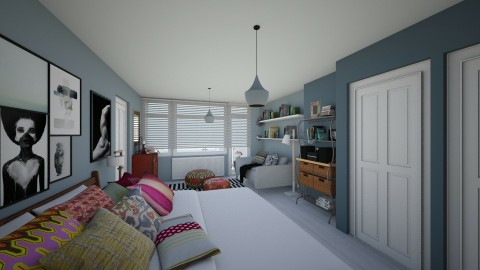 Bedroom redesign - Modern - Bedroom  - by Conchy
