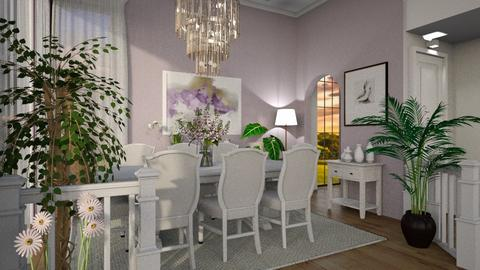 Wisteria dining - Vintage - Dining room  - by ZsuzsannaCs