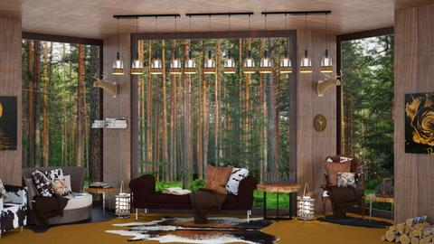 Wood Cabin Escape - Living room  - by ShazaD14
