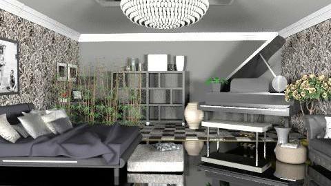 Monochromatic Masterpiece - Modern - Bedroom  - by kishwick